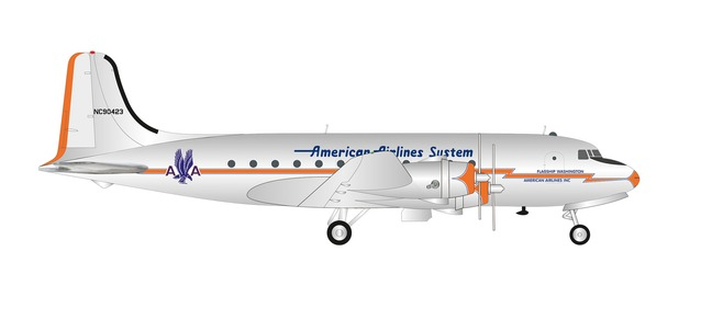 American DC-4 (1:200) by Herpa 1:200 Scale Diecast Airliners <p> Item Number: HE570862