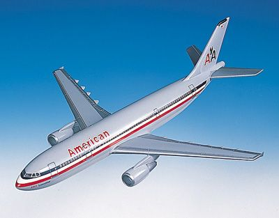 A300-600 American (1:100), TMC Pacific Desktop Airplane Models Item Number KA300AAT