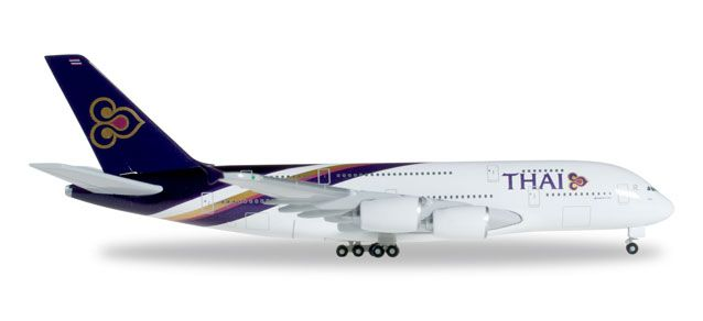 Thai A380 HS-TUD (1:500), Herpa 1:500 Scale Diecast Airliners Item Number HE502306-004