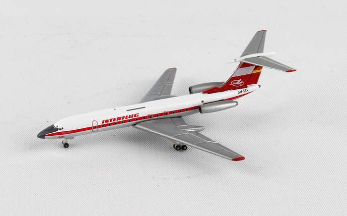 Interflug TU-134A DM-SCV (1:500), Herpa 1:500 Scale Diecast Airliners Item Number HE527095
