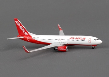 Air Berlin 737-800W D-ABBB (1:500), Herpa 1:500 Scale Diecast Airliners Item Number HE527224