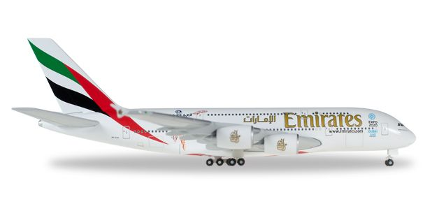 "Emirates A380 ""Cricket World Cup"" A6-EEK (1:500), Herpa 1:500 Scale Diecast Airliners Item Number HE527897-001"
