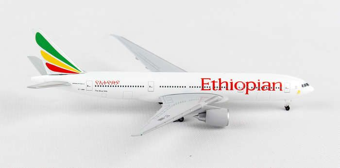 "Ethiopian 777-200LR ""The Blue Nile"" ET-ANN (1:500), Herpa 1:500 Scale Diecast Airliners Item Number HE528115"