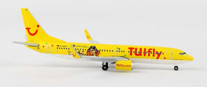 "Tuifly 737-800 ""Durer & Klexi"" D-AHFT (1:500), Herpa 1:500 Scale Diecast Airliners Item Number HE528177"