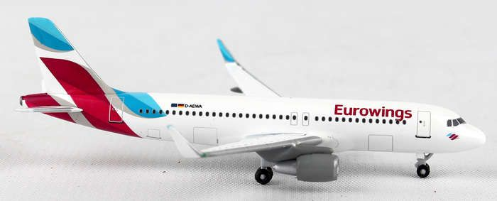 "Eurowings A320 ""D-AEWA"" (1:500) , Herpa 1:500 Scale Diecast Airliners Item Number HE528214"