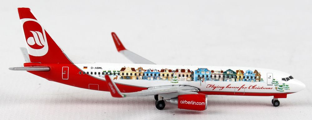 "Air Berlin 737-800 D-ABML (1:500) ""Flying Home For Christmas IV"", Herpa 1:500 Scale Diecast Airliners Item Number HE528368"