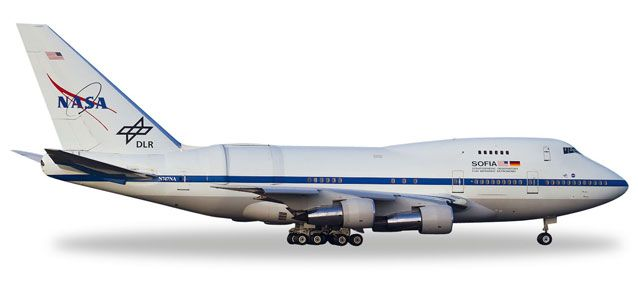 "NASA / DLR 747SP ""Sofia"" N747NA (1:500), Herpa 1:500 Scale Diecast Airliners Item Number HE528498"