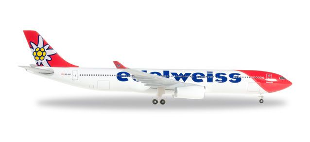 Edelweiss Air A330-300 HB-JHR (1:500) New Livery, Herpa 1:500 Scale Diecast Airliners Item Number HE528870