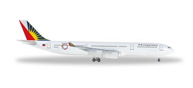 Philippine A340-300 RP-C3439 (1:500) 75th Anniversary, Herpa 1:500 Scale Diecast Airliners Item Number HE529341