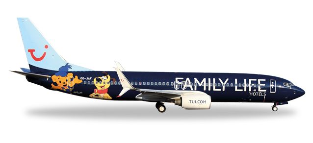"TUI Jetairfly Boeing 737-800 ""Family Life Hotels"" OO-JAF (1:500), Herpa 1:500 Scale Diecast Airliners Item Number HE529433"