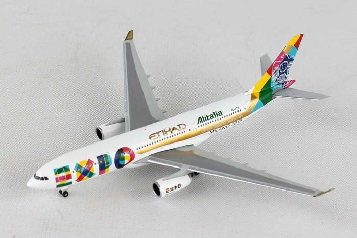 "Etihad Airways Airbus A330-200 ""Expo Milano"" A6-EYH (1:500), Herpa 1:500 Scale Diecast Airliners Item Number HE529501"