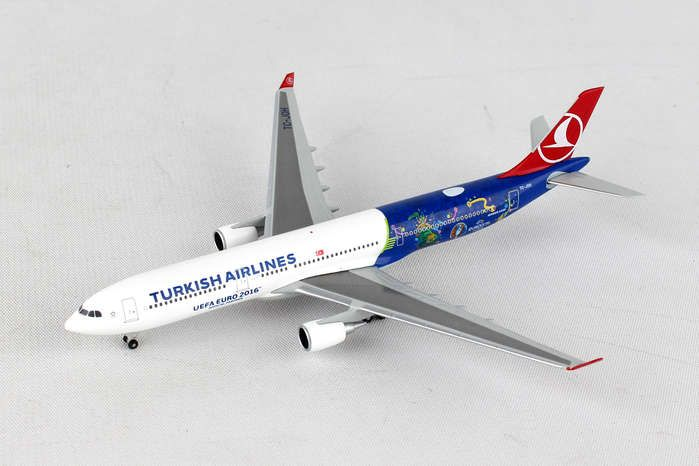 "Turkish A330-300 ""EM 2016"" TC-JOH (1:500), Herpa 1:500 Scale Diecast Airliners Item Number HE529556"