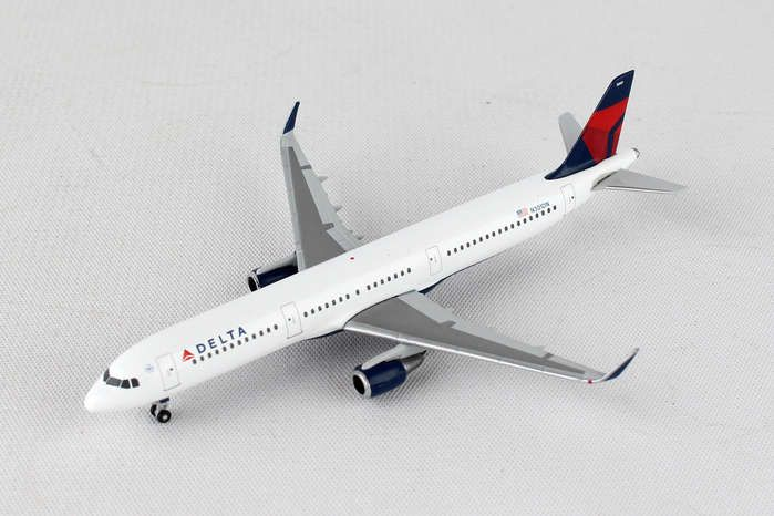 Delta Air Lines Airbus A321 N301DN (1:500), Herpa 1:500 Scale Diecast Airliners Item Number HE529617