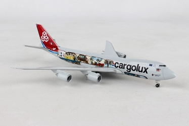 "Cargolux Boeing 747-8F - 45th Anniversary ""City of Redange-sur-Attert"" LX-VCM (1:500), Herpa 1:500 Scale Diecast Airliners Item Number HE529716"