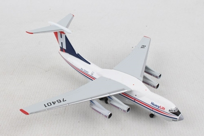 HeavyLift Cargo Airlines Ilyushin IL-76 (1:500), Herpa 1:500 Scale Diecast Airliners, Item Number HE532785