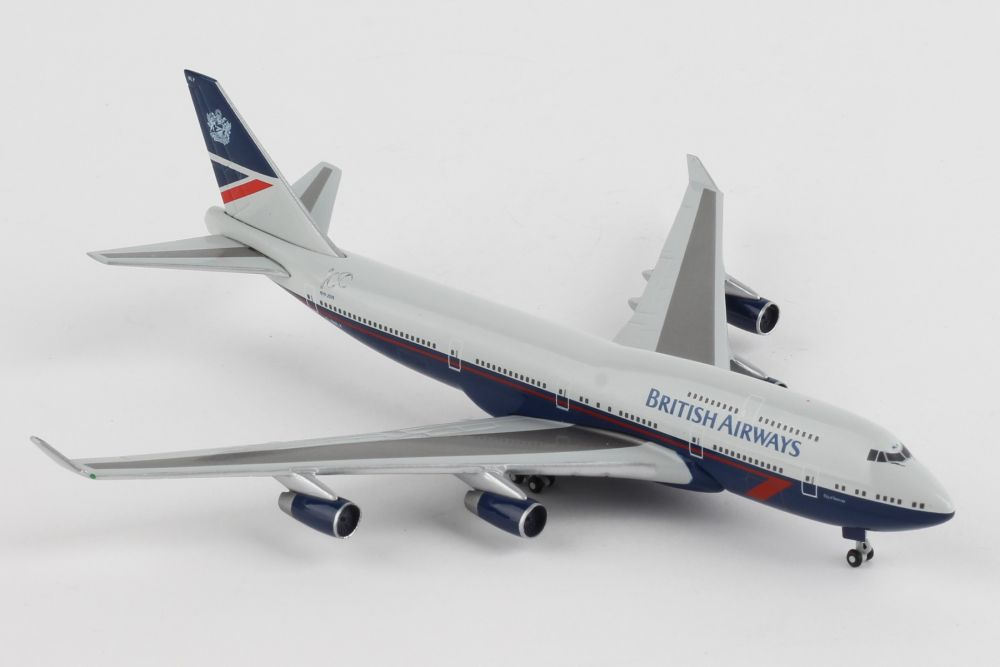 "British Airways Boeing 747-400, 100th anniversary Landor Heritage Design ""City of Swansea"" G-BNLY (1:500) by Herpa 1:500 Scale Diecast Airliners Item Number HE533393"