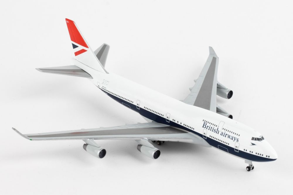 "British Airways Boeing 747-400 ""100th"" (1:500) by Herpa 1:500 Scale Diecast Airliners"