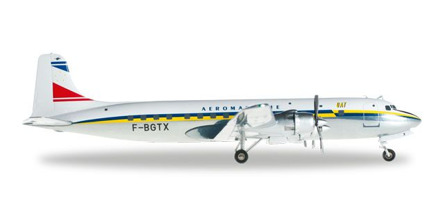 UAT DC-6B F-BGTX (1:200), Herpa 1:200 Scale Diecast Airliners Item Number HE556606