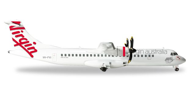 "Virgin Australia Airlines ATR-72-500 ""Mission Beach"" VH-FVI (1:200), Herpa 1:200 Scale Diecast Airliners Item Number HE556651"