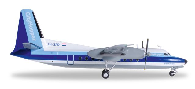 KLM (NLM Cityhopper) F-27 PH-SAD (1:200), Herpa 1:200 Scale Diecast Airliners Item Number HE556897