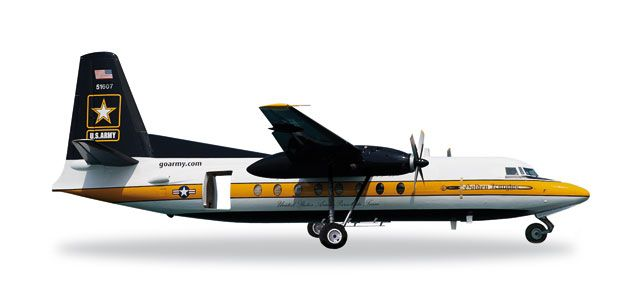 US Army C-31A (Fokker F-27) 85-1607 Golden Knights (1:200) 85-1607 Golden Knights, Herpa 1:200 Scale Diecast Airliners Item Number HE557177