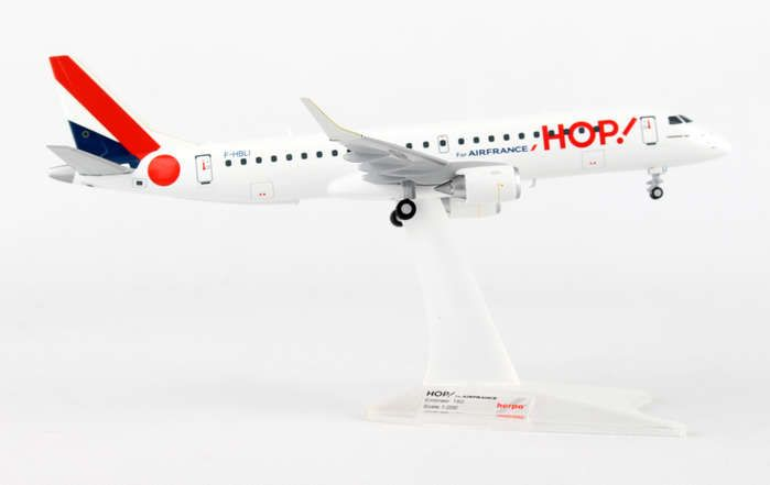 Hop! Air France Regional Airlines ERJ-190 F-HBLI (1:200), Herpa 1:200 Scale Diecast Airliners Item Number HE557276