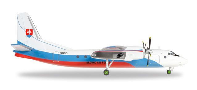 Slovak Air Force AN-24B 5605 (1:200), Herpa 1:200 Scale Diecast Airliners Item Number HE557443