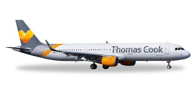 Thomas Cook A321 (1:200), Herpa 1:200 Scale Diecast Airliners Item Number HE557634