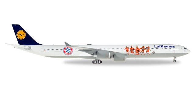 Lufthansa 340-600 FC Bayern Audi Summer Tour 2016 (1:200) D-AIHK, Herpa 1:200 Scale Diecast Airliners Item Number HE558242