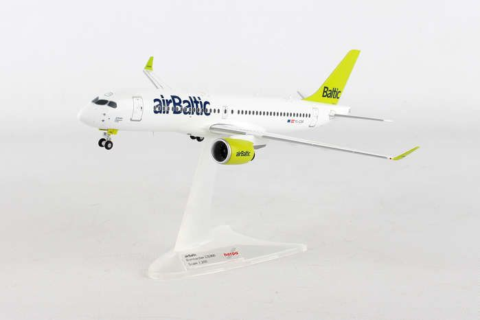 Air Baltic CS300 YL-CSA (1:200) - New Mold, Herpa 1:200 Scale Diecast Airliners Item Number HE558457