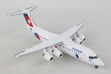 "Crossair Avro RJ100 ""Jumbolino"" (1:200) - Preorder item, order now for future delivery, Herpa 1:200 Scale Diecast Airliners, Item Number HE559638"