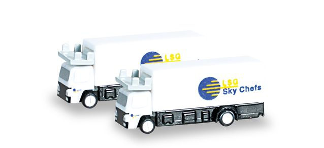 Catering Trucks (2 Pack) (1:400), Herpa 1:400 Scale Diecast Airliners Item Number HE562485