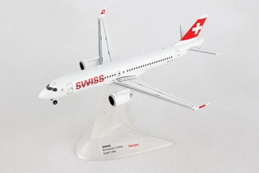 Swiss International Air Lines Bombardier CS300 HB-JCB (1:400), Herpa 1:400 Scale Diecast Airliners Item Number HE562614