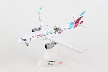 "Eurowings Europe Airbus A320 ""Eurowings Holidays"" OE-IQD (1:400)- , Herpa 1:400 Scale Diecast Airliners Item Number HE562676"