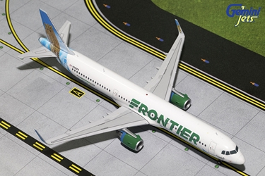 "Frontier Airlines A321-200 Sharklets ""Ferndale the Owl"" N705FR (1:200), GeminiJets 200 Diecast Airliners, Item Number G2FFT611"