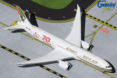"Gulf Air B787-9 A9C-FG ""70th Anniversary"" Retro Livery (1:400)"