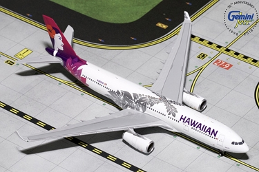 Hawaiian A330-200 New Livery N380HA (1:400), GeminiJets 400 Diecast Airliners, Item Number GJHAL1787
