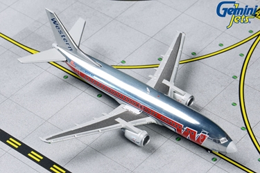 Western B737-300 N306WA (Polished, Final Livery) (1:400 by GeminiJets 400 Diecast Airliners Item Number: GJWAL1202